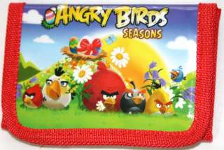 NEW Angry Birds Kids Tri fold Wallet Party Favors Red Blue Black LOW