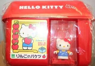 Sanrio Hello Kitty Building Bloks Apple Bucket From JP