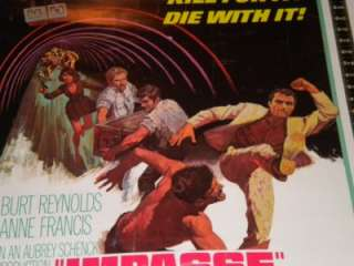 IMPASSE ORIGINAL 30x40 ROLLED MOVIE POSTER BURT REYNOLDS ANNE FRANCIS