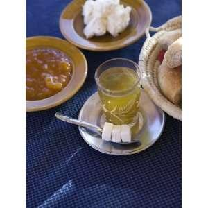 Breakfast Mint Tea, and Bread, Ait Benhaddou, Atlas Mountains