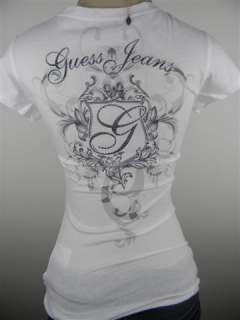 NEW ARRIVAL  GUESS WOMENS SHIRT WHITE SIZE M
