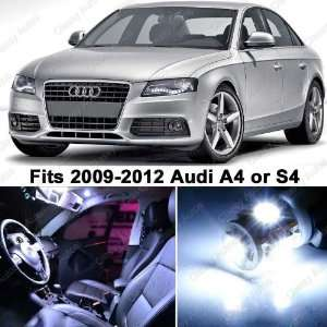 Audi A4 S4 White LED Lights Interior Package Kit B8 (10