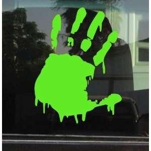 (Left Hand)   5 LIME GREEN   Vinyl Decal WINDOW Sticker   NOTEBOOK