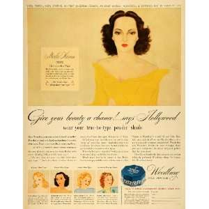 Beauty Powder Actress Merle Oberon   Original Print Ad Home & Kitchen