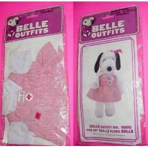 Belle Outfit for 10 Plush Doll  Nurse Candy Striper: Toys & Games