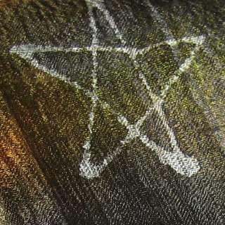 Thai MOONS STARS New Batik Multicolor OOAK Silk Scarf