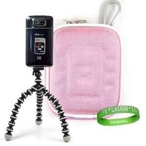 , Mini Camcorder Accessories Kit Nylon Baby Pink Protective Hard