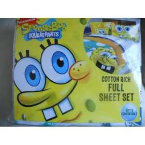 Nickelodeon Spongebob Squarepants Cotton Full Sheet Set