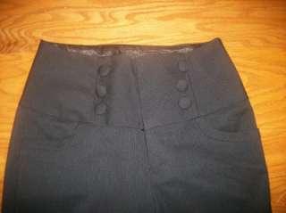 JUNIORS TWENTY ONE BLACK STRETCH DRESS PANTS 5 28X30