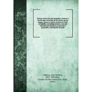 de una mapoteca chilena ó sea de una colección de los títulos