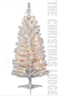 FT PRE LIT WHITE ARTIFICIAL CHRISTMAS TREE / QUICK & EASY ASSEMBLY