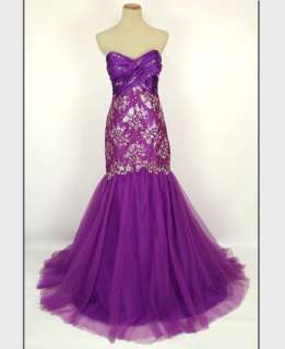 TONY BOWLS Purple $500 Prom Pageant Evening Gown   BRAND NEW   Size 4