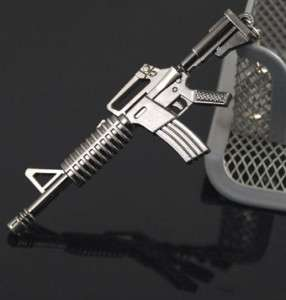Military Gun Weapon Model M4A1 Assault Rifle Key Chain