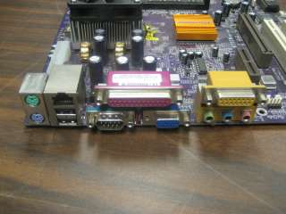 ECS EliteGroup K7SEM Rev 3 Socket 462 Motherboard w CPU   PCI/VGA/USB