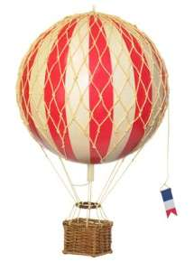 The Skies Model Hot Air Balloon True Red NIB Authentic Models