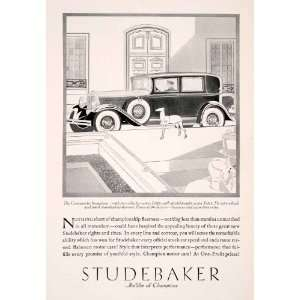 Commander Brougham Car Laurence Fellows Art Deco   Original Print Ad