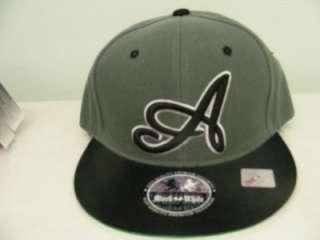 SNAP BACK FLAT BILL ATLANTA MULTI COLOR GREY BLACK GREEN HAT CAP