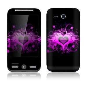 HTC Freestyle Decal Skin Sticker   Glowing Love Heart