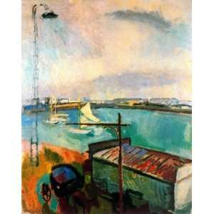 Raoul Dufy   32 x 40 inches   The port of Le Havre 1 Home & Kitchen
