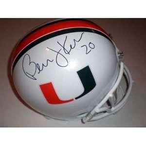 Bernie Kosar Autographed/Hand Signed Helmet Miami