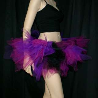 Hot Pink Purple and Black UV Blacklight Trashy TuTu