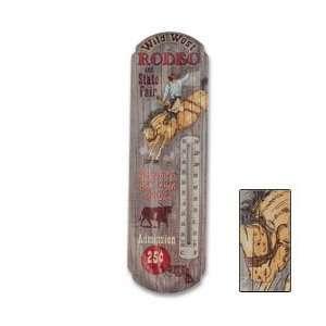 Wild West Rodeo Nostalgic Tin Thermometer:  Sports
