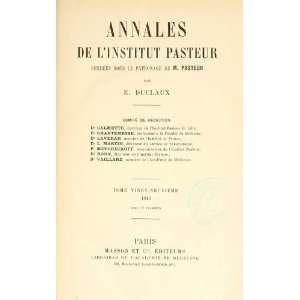 Annales De Microbiologie France Institut Pasteur Paris