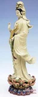 Stunning Art Oriental Master Chinese Porcelain Ceramic Figurine Guan