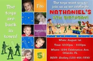 Custom Toy Story Buzz Personalized Birthday Invitations