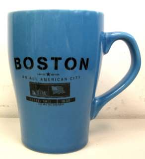 ALL AMERICAN CITY of BOSTON COFFEE MUG Nice LE