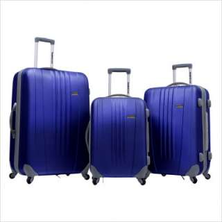 Travelers Choice Toronto 3 Piece Hardside Spinner Luggage in Black