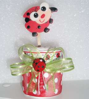 LADY BUG DIAPER CUPCAKES BABY SHOWER CAKES GIFT FAVOR