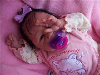 OOAK Lifelike Reborn Baby Girl Doll Ruby (Lorna Miller Sands Sculpt