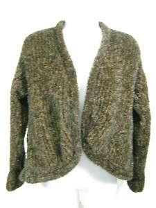 RICO Brown Knit Cardigan Sweater Top M