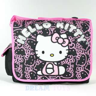 Sanrio Hello Kitty Black Glitter Large Messenger Bag   Backpack Girls