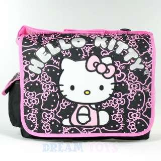 Sanrio Hello Kitty Black Glitter Large Messenger Bag   Backpack Girls