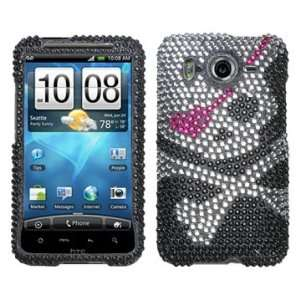 Skull Beling Diamante Protector Cover Case for HTC Inspire