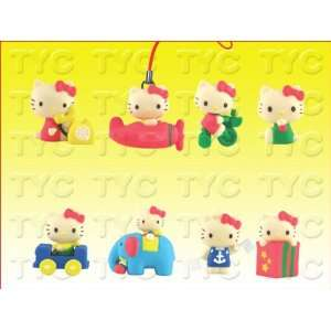 Tomy Hello Kitty Retro Key Charms Set of 8 Brand NEW Christmas Gifts