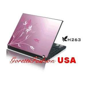 Laptop Skin Notebook Sticker Cover H263 Purple Flower