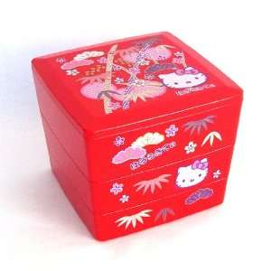 Bento Sanrio Hello Kitty Design Japanese Style 3 layer Bento
