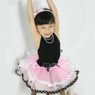 Black Dress on Girls Black Pink Ballet Dance Costume Tutu Dress Sz 2 8
