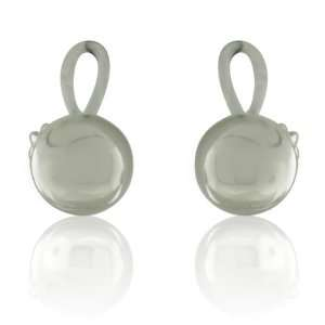 Inspired Sterling Silver Classic Ball Earrings Designer Inspired