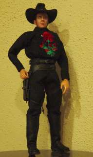 Custom Cowboy 1/6 Tom Mix Figure (Black outfit)