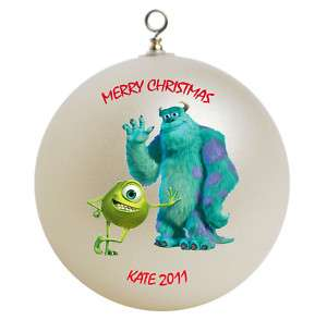 Personalized Monsters Inc Christmas Ornament Gift