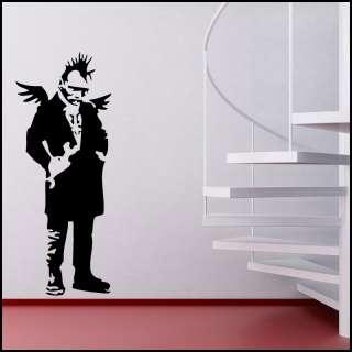BANKSY ANGEL PUNK WINGS VINYL WALL ART STICKER DECAL