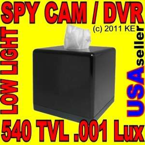 Battery Powered Tissue Box Hidden Video Spy Cam Camera/Recorder