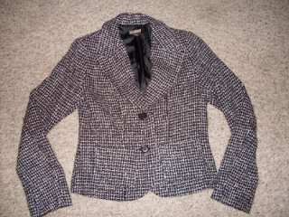 Roxy Pink Corduroy & Black Tweed Blazer Jackets + Blouse Lot Women S M