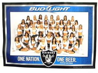 RAIDERS BUD LIGHT POSTER SEXY GIRLS ONE NATION ONE BEER
