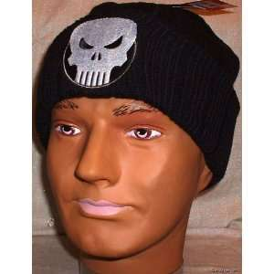 Marvel PUNISHER Skull Black Knitted Cap/Hat BEANIE