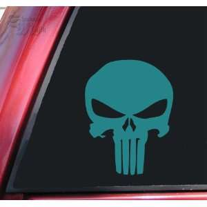 Punisher 2K Skull Vinyl Decal Sticker   Teal Automotive